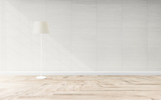 Lâmpada de pé em uma sala de estar Psd grátis