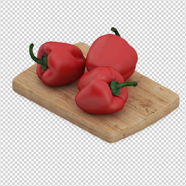 Legumes isométricos Psd Premium