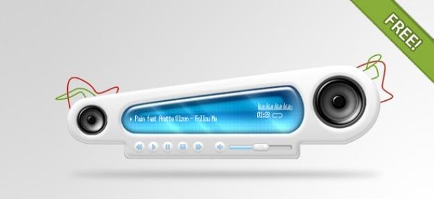 Leitor de áudio abstrato Psd grátis