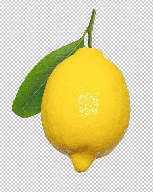 Limões amarelos em fundo transparente transparecy Psd Premium