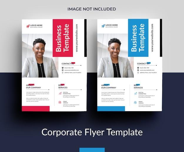 Lindo design de modelo de folheto de negócios Psd Premium