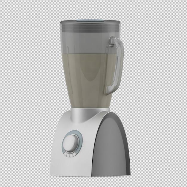 Liquidificador isométrico 3d render Psd Premium