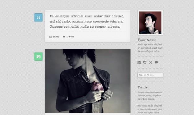 Livre tumblr tema psd - lambda Psd grátis