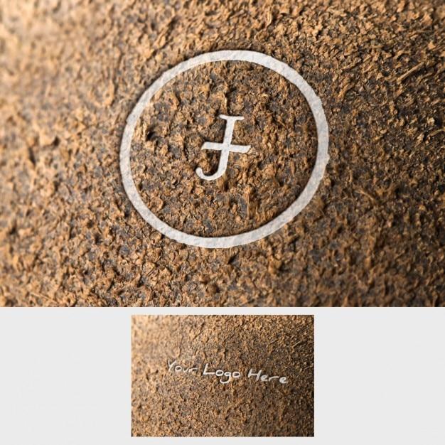 Logo mock up apresentação Psd grátis
