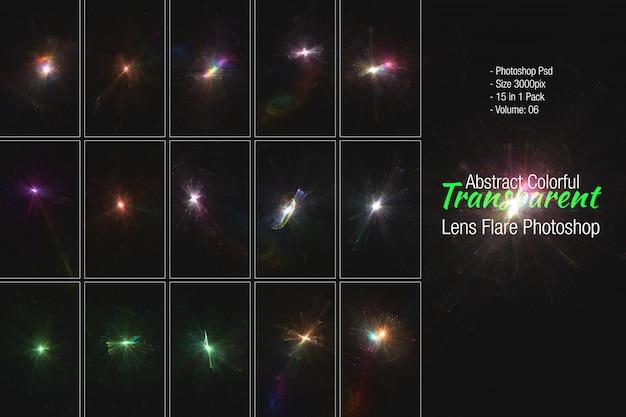 Luz de reflexo da lente Psd Premium