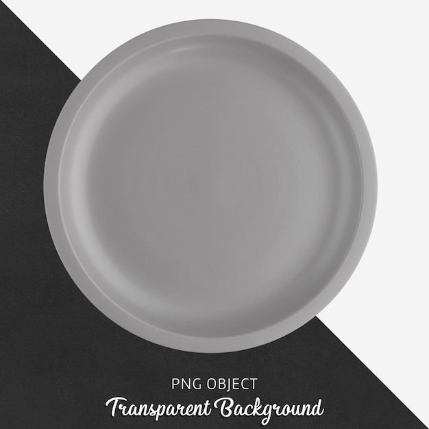 Luz placa cerâmica redonda cinza em fundo transparente Psd Premium