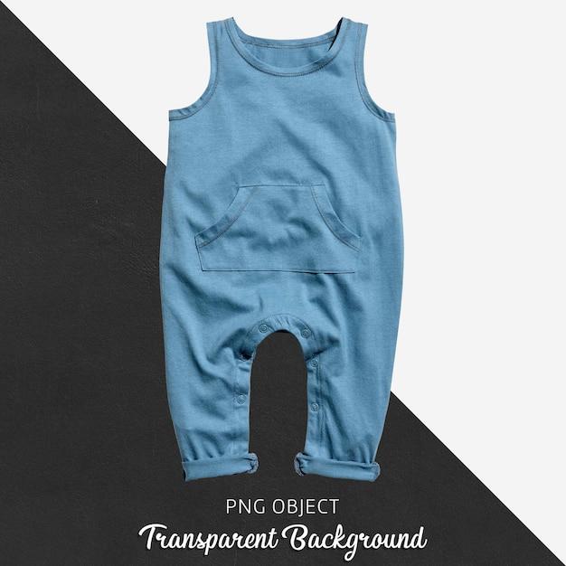 Macacão azul para bebê ou crianças em fundo transparente Psd Premium