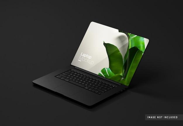 Macbook pro maquete de argila preta Psd Premium