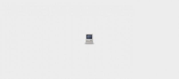 Macintosh classic ícone psd Psd grátis