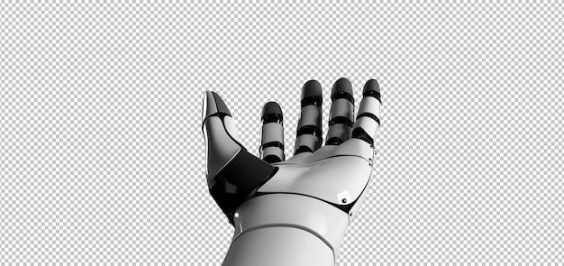 Mão de robô ciborgue Psd Premium