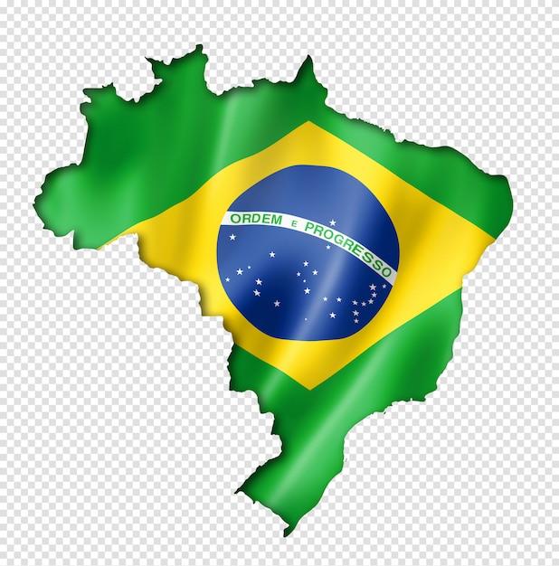 Mapa da bandeira brasileira Psd Premium