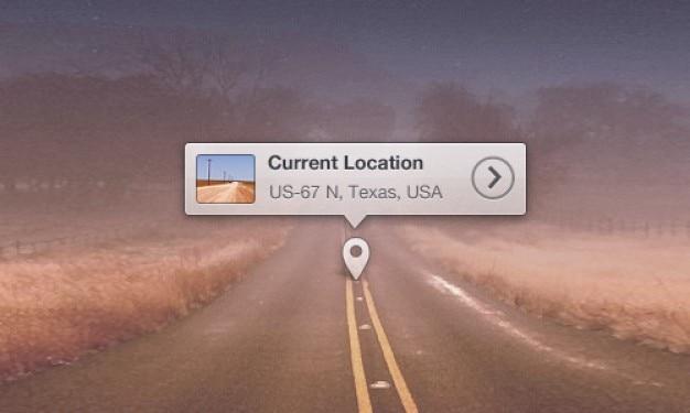 Mapa de localização dica de ferramenta psd Psd grátis