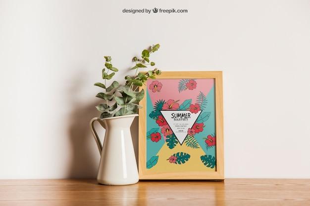 Mapeamento de quadros com decoração de flores Psd grátis
