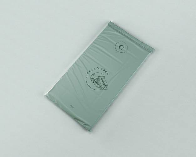 Maqueta de embrulho de chocolate Psd grátis
