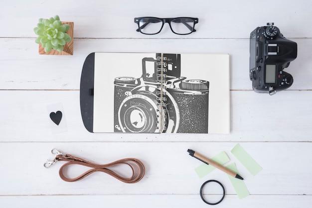 Maquete da área de transferência com o conceito de fotografia Psd grátis