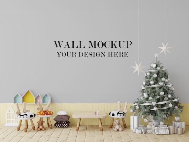 Maquete da parede da creche para a véspera de ano novo Psd Premium