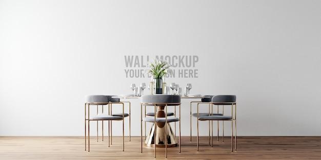 Maquete da parede da sala de jantar interior Psd Premium