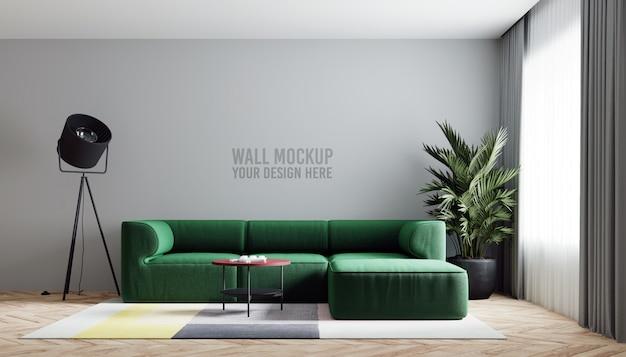 Maquete da parede da sala interior Psd Premium