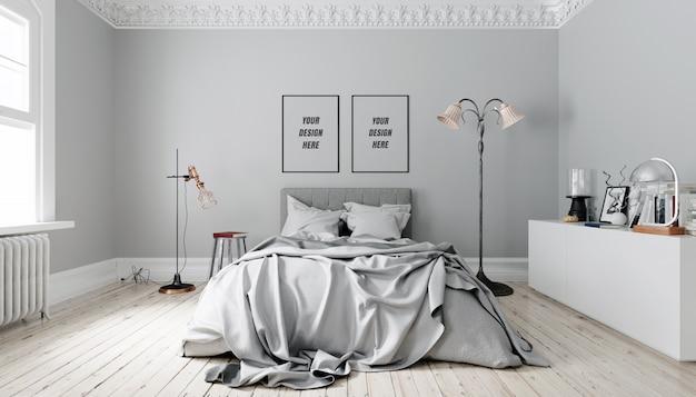 Maquete da parede interior Psd Premium