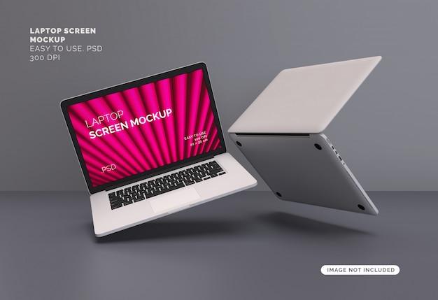 Maquete da tela do laptop Psd Premium