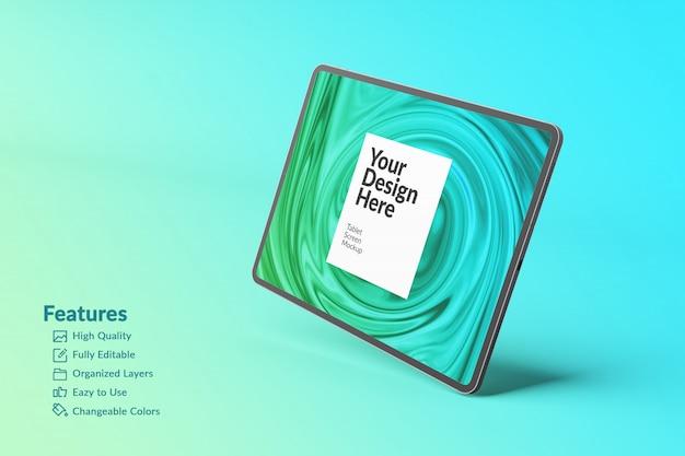 Maquete da tela do tablet para dispositivo digital editável Psd Premium
