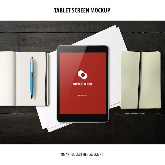 Maquete da tela do tablet Psd grátis