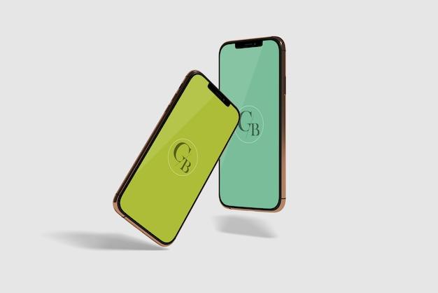 Maquete da tela do telefone móvel Psd Premium