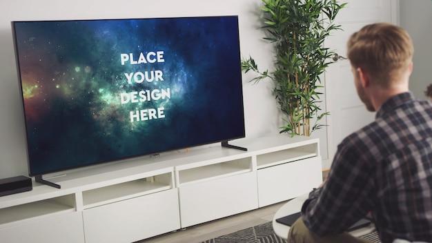 Maquete da tv Psd Premium