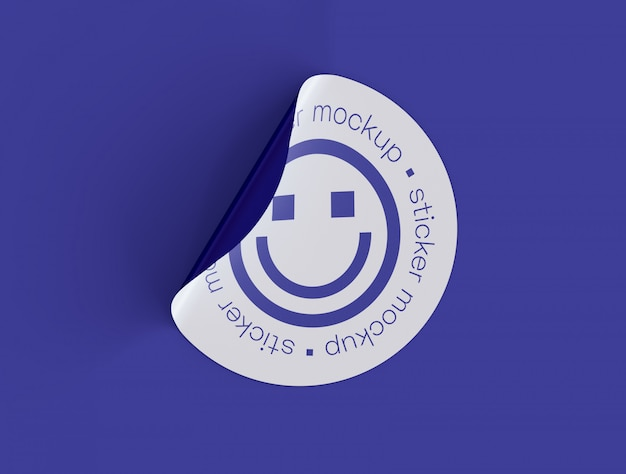 Maquete de adesivo adesivo Psd Premium