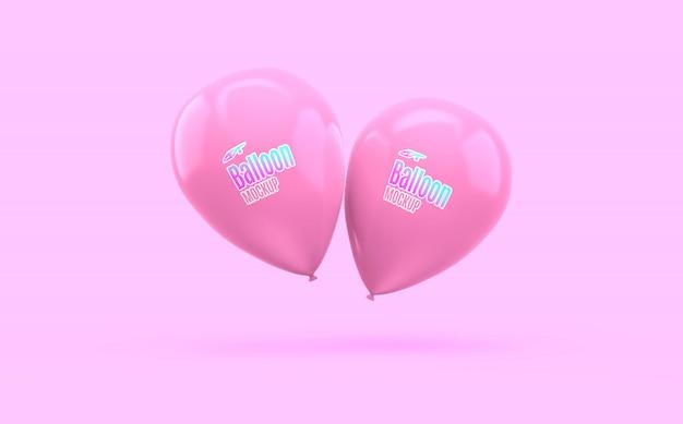 Maquete de balão realista Psd Premium
