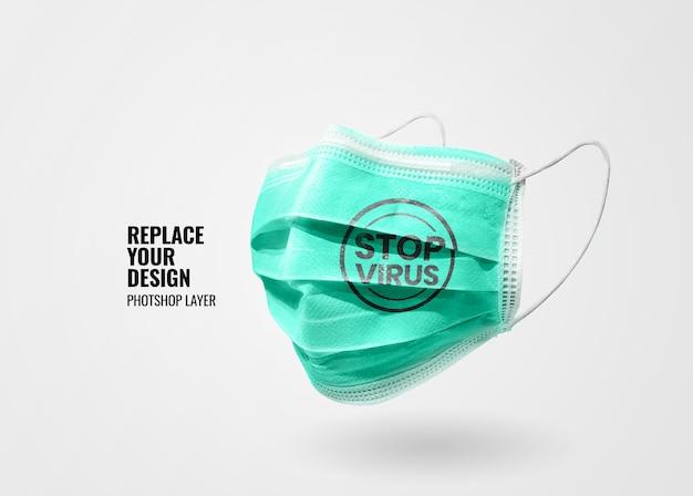 Maquete de banner de máscara médica Psd Premium