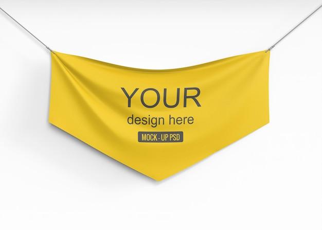 Maquete de banner têxtil Psd grátis