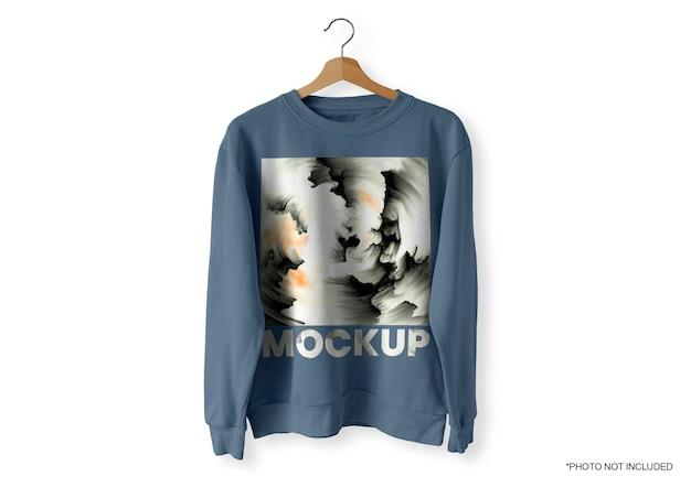 Maquete de blusa azul frontal Psd grátis
