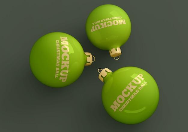 Maquete de bolas de natal Psd Premium