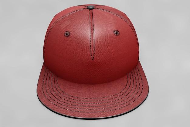 Maquete de boné de beisebol vermelho Psd grátis