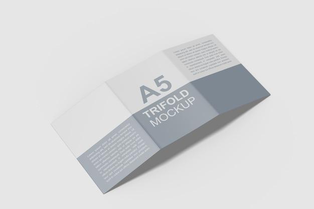Maquete de brochura a5 com três dobras Psd Premium