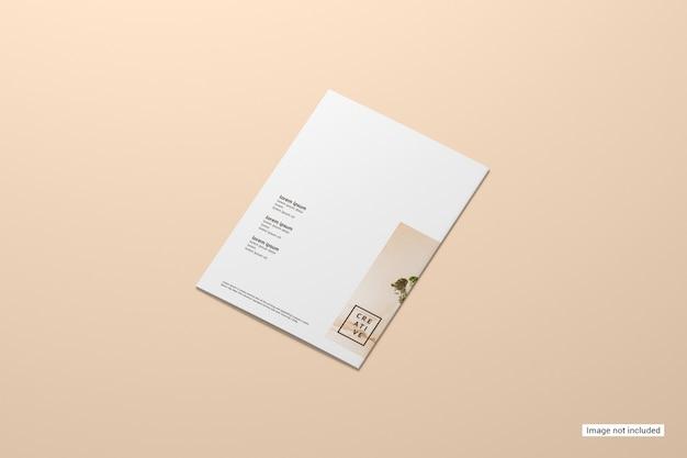 Maquete de brochura bifold Psd grátis