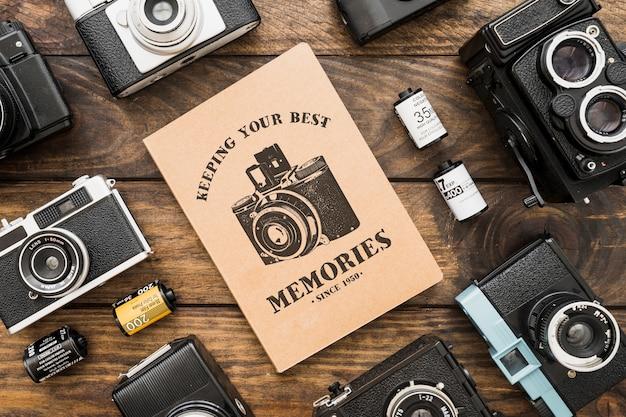 Maquete de brochura com conceito de fotografia Psd grátis