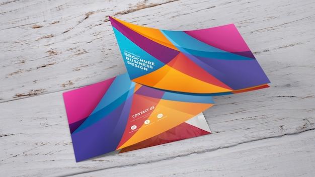 Maquete de brochura curvo Psd grátis