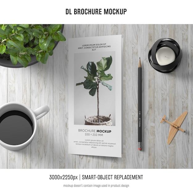 Maquete de brochura de d retrato Psd grátis