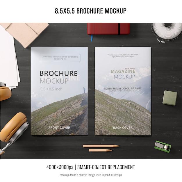 Maquete de brochura de retrato Psd grátis