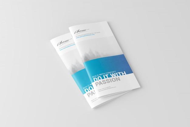 Maquete de brochura dl Psd Premium