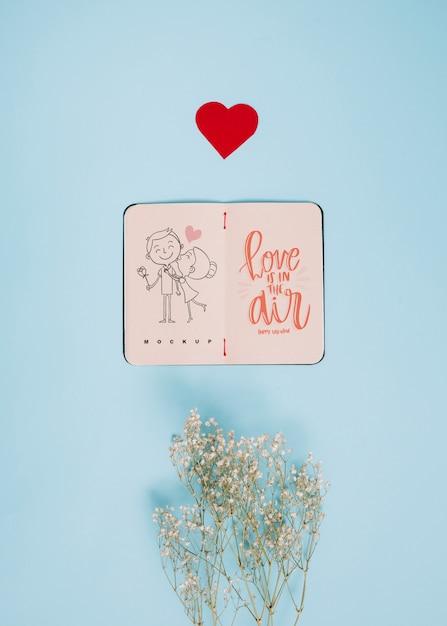 Maquete de caderno para dia dos namorados Psd grátis