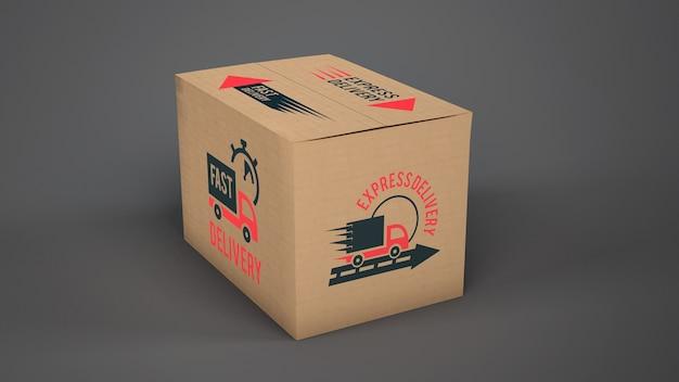 Maquete de caixa de entrega Psd grátis