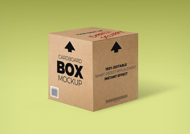 Maquete de caixa de papelão Psd grátis