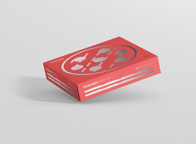 Maquete de caixa de pizza psd grátis Psd Premium