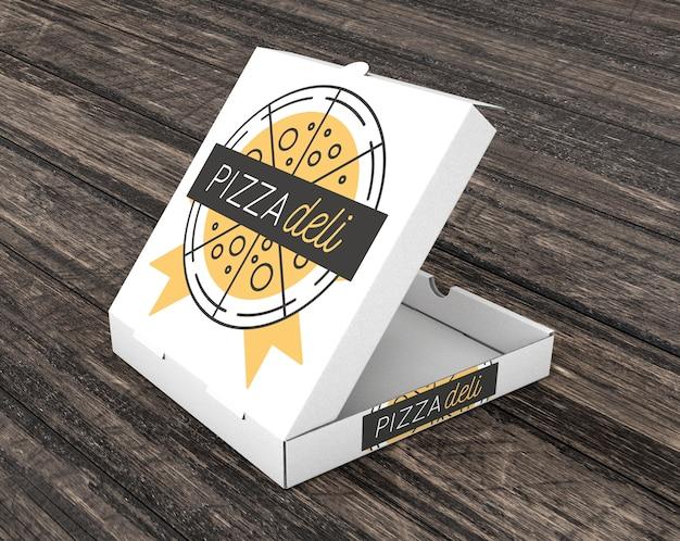 Maquete de caixa de pizza vazia Psd grátis