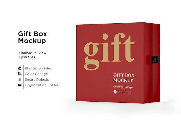 Maquete de caixa de presente fosco isolada Psd Premium