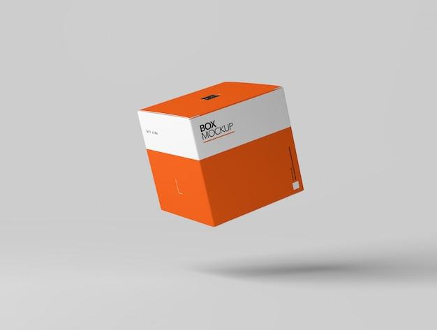 Maquete de caixa quadrada Psd Premium