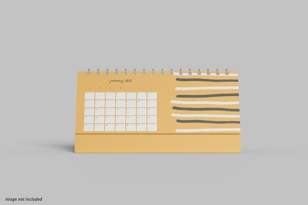 Maquete de calendário de mesa horizontal mínimo Psd Premium